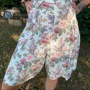 Vintage Pants & Jumpsuits - Vintage L.A Girl Boho 2 Piece Shorts Set